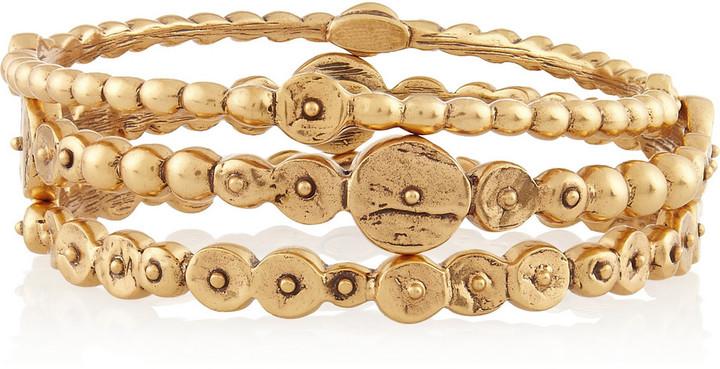 Oscar de la Renta Set of three gold-tone bracelets