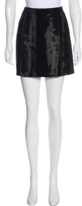 Anna Sui Velvet Straight Skirt Black Velvet Straight Skirt