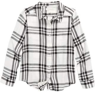 Treasure & Bond Jaspe Plaid Flannel Shirt