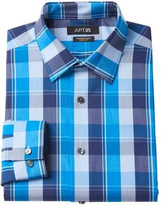 Apt. 9 Men's Slim-Fit Premier Flex Collar Plaid Stretch Dress Shirt