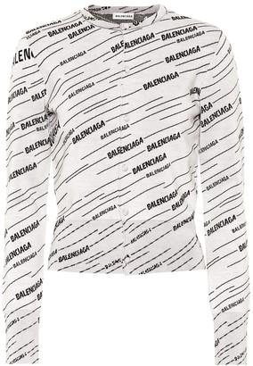 Balenciaga Logo wool-blend cardigan