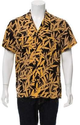 Amiri Leaf Print Short Sleeve Shirt