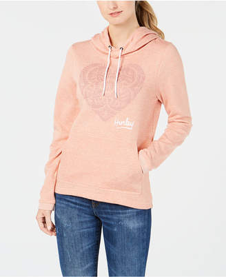 Hurley Juniors' Blossom Graphic-Print Fleece Hoodie