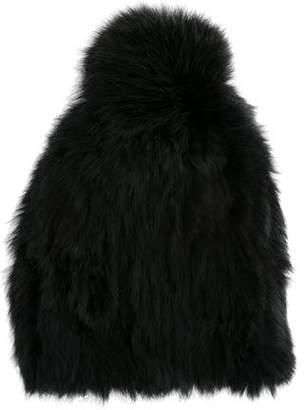 Annabelle Fur Pom-Pom Beanie