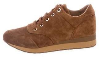 Max Mara Suede Low-Top Sneakers