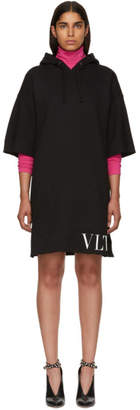 Valentino Black VLTN Short Hoodie Dress