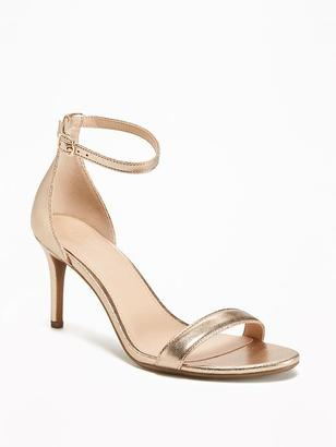 Metallic Ankle-Strap Sandals for Women $34.94 thestylecure.com