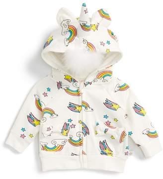 Rosie Pope Faux Fur Unicorn Hoodie (Baby Girls)