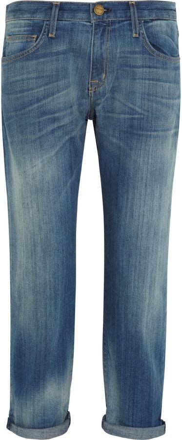 Current/Elliott The Boyfriend cropped straight-leg jeans