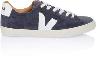 Veja Bastile Grey Velvet Sneaker