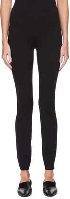 The Row Helda Skinny Back-Hem Zip Stretch-Knit Pants