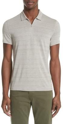 John Varvatos Collection Stripe Zip Polo Shirt