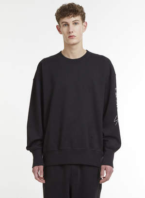 Logo Crew Neck Sweater in Black