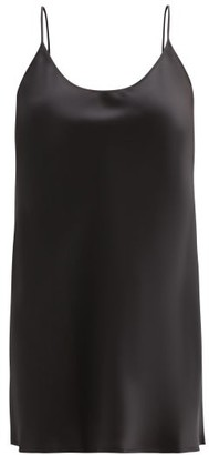 La Perla Semplice Silk Satin Slip Dress - Womens - Black