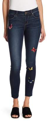 Articles of Society Sarah Butterfly Embroidered Skinny Jeans