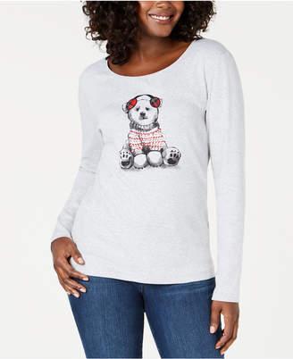 Karen Scott Embellished Polar Bear Top, Created for Macy's