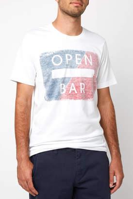 Open Bar White Graphic Tee