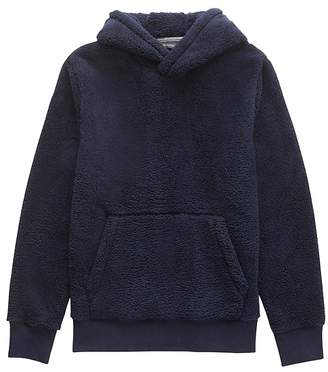 Banana Republic Solid Sherpa Fleece Hoodie