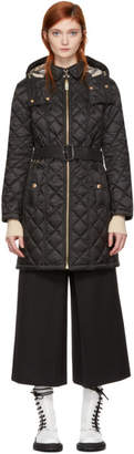 Burberry Black Quilted Long Baughton Coat