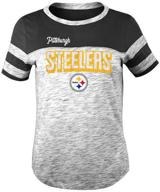 5th & Ocean Pittsburgh Steelers Space Dye Glitter T-Shirt, Girls (4-16)