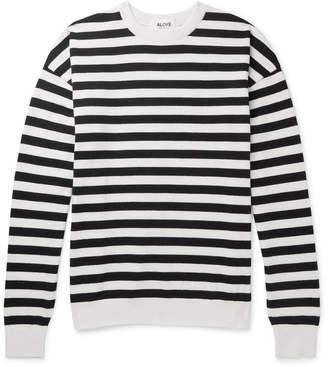 Aloye - Oversized Striped Cotton Sweater