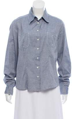 Malo Long Sleeve Button Down Top