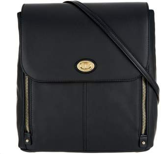 At Qvc Tignanello Smooth Leather Aurora Convertible Backpack