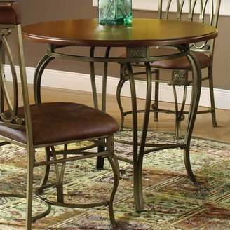 "Hillsdale Furniture Montello 36"" Round Table, Old Steel"
