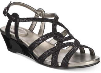 Bandolino Galtelli Embellished Slingback Wedge Sandals Women's Shoes