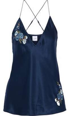 CAMI NYC Devon Embroidered Silk-Charmeuse Camisole