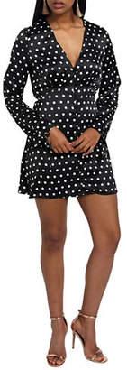 Missguided Satin Shift Dress