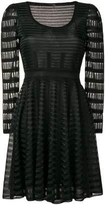 Alexander McQueen stripe panelled mini dress