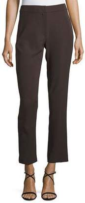 Armani Collezioni Tech Cady Slim-Straight Pants, Brown