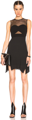 McQ Alexander McQueen Bra Pleated Dress $645 thestylecure.com