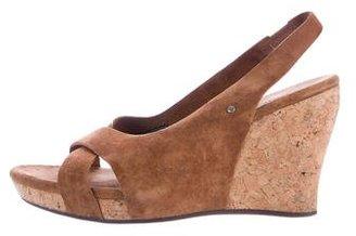 UGG Australia Hazel Slingback Wedge Sandals $65 thestylecure.com