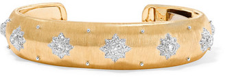 Buccellati - Macri 18-karat Yellow And White Gold Diamond Cuff - M $24,500 thestylecure.com