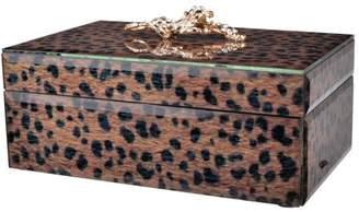 A&B Home Safari Leopard Box Rectangle