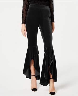 INC International Concepts I.n.c. Velvet Slit Wide Leg Pants