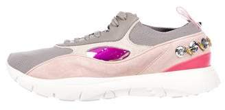 Valentino Suede Embellished Sneakers w/ Tags