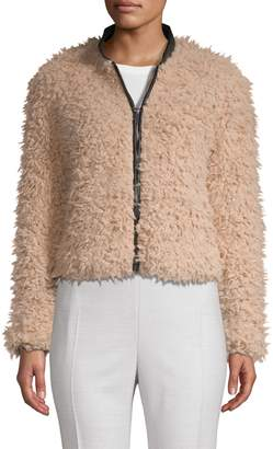 Stella + Lorenzo Full-Zip Faux Fur Jacket