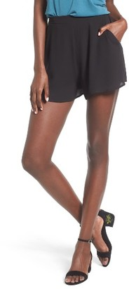 Women's Lush Woven High Waist Shorts $35 thestylecure.com