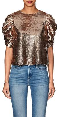 Ulla Johnson Women's Rae Metallic Sequined Blouse