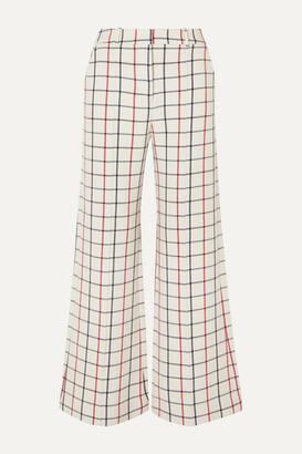 Munthe MUNTHE - Hilarious Checked Twill Wide-leg Pants - Ecru