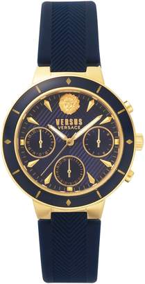 Versace VERSUS  Harbour Heights Silicone Strap Watch, 38mm