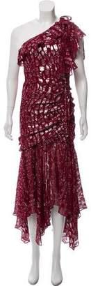 Veronica Beard Printed Silk Midi Dress w/ Tags