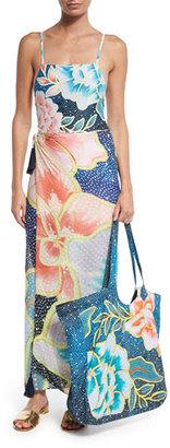 Mara Hoffman Arcadia Floral-Print Beach Tote Bag $190 thestylecure.com