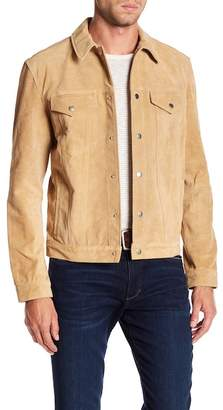 Frame Suede Western Button Down Jacket