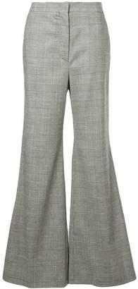 Sara Battaglia cascade ruffled trousers