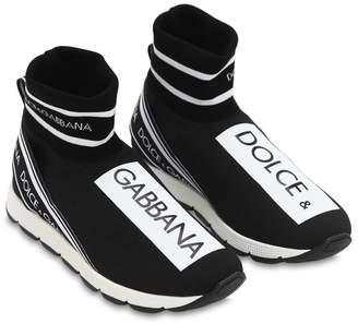 Dolce & Gabbana Knit Sock High Top Sneakers