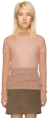 Rag & Bone Pink Mohair Donna Turtleneck